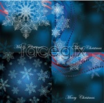 Link toBlue snowflake card vector