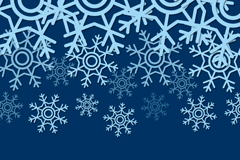 Link toBlue snowflake decorations background vector
