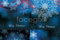 Link toBlue snowflake pattern background