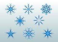 Link toBlue snowflakes vector free