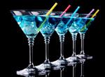 Link toBlue stemware drink psd