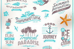 Link toBlue summer beach tag vector
