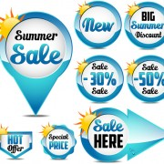 Link toBlue summer sale labels design vector 02 free
