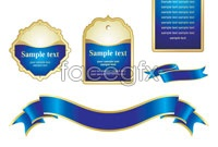 Link toBlue tag ribbons vector graphics