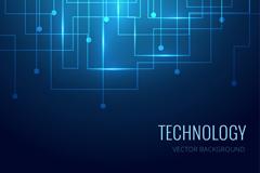 Link toBlue tech circuit diagram background vector
