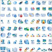 Link toBlue technology icon go vector