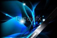 Link toBlue technology light effect background vector