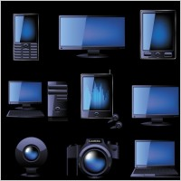 Link toBlue technology products icon 01 vector