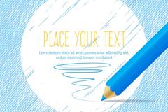 Link toBlue text background color pencils vector graphics