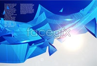 Blue three dimensional glare background vector