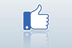 Link toBlue thumb gesture tag vector