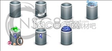 Link toBlue trash can icons