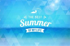 Link toBlue triangle mosaic poster summer vector