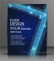 Link toBlue vector business brochure template