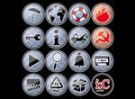 Link toBlue vector buttons
