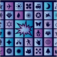 Link toBlue vector icons