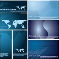 Link toBlue vector world map background