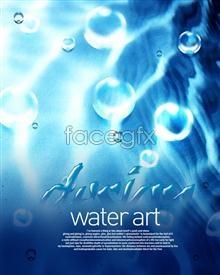 Link toBlue water art poster psd