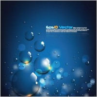 Link toBlue water drops background vector 2