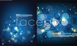 Link toBlue water drops background vector