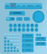 Blue web page controls