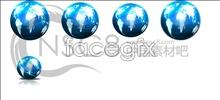 Link toBlue world globe icon
