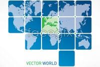 Link toBlue world map business background