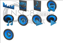 Link toBlues blue mp3 icon