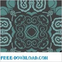Link toBluish floral wallpaper