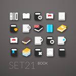 Book a flat icon vector
