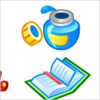 Link toBook icons vector