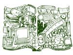 Link toBook illustration vector