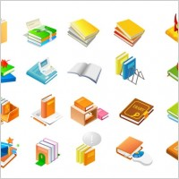 Link toBook series of eleven icon vector
