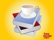 Link toBooks and tea vector free