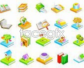 Link toBooks in series seven icon vector