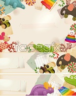 Link toBorder cartoon toys vector