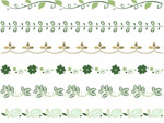 Link toBotanical lace border vector