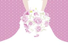 Link toBouquet bride folding card vector