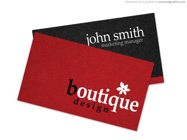 Link toBoutique business card psd