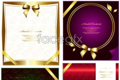 Link toBow chic decorative card vector