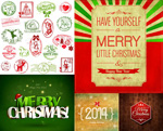 Link toBow christmas fonts vector