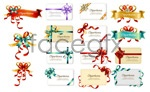 Link toBow ribbon cards vector