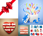 Link toBow tie and gift box vector