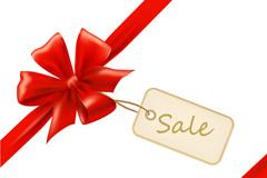 Link toBow tie sales card vector