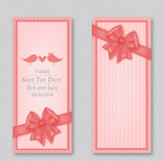 Link toBows wedding cards vector