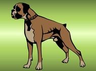 Link toBoxer dog vector free