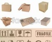 Link toBoxes and boxes icons appropriate vector