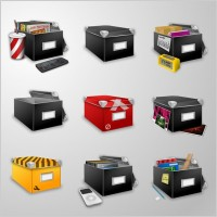 Link toBoxes icons set icons pack