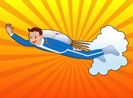 Link toBoy with jetpack vector free