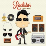Link toBoys and rock design vector set free
